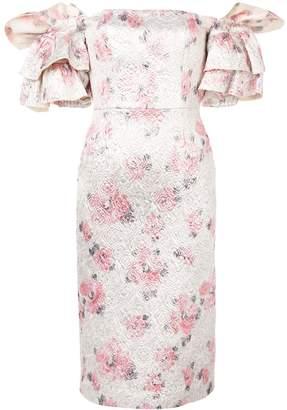 ALEXACHUNG Alexa Chung floral puff-sleeve dress