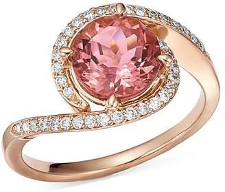 Bloomingdale's Pink Tourmaline & Diamond Ring in 14K Rose Gold - 100% Exclusive