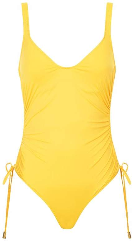 Lazul Scoop Back Ruched Swimsuit
