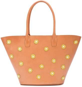 Mansur Gavriel floral embellished triangle tote bag