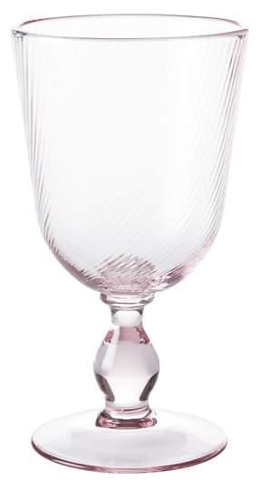 Arabella Pink Glass Goblet