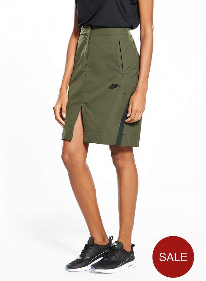 Sportswear Woven Bonded Skirt - Khaki