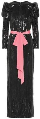 Monique Lhuillier Sequined column gown