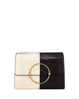 Milly Astor Colorblock Leather Flap Clutch Bag
