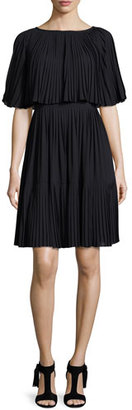 Kate Spade New York Pleated Cape Dress, Black $448 thestylecure.com