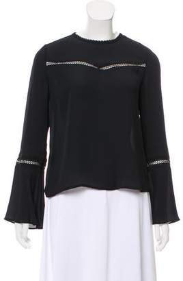 Rebecca Minkoff Bell Sleeve Crew Neck Top