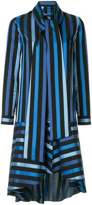 Osman Amelia striped midi dress