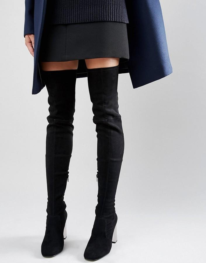 AsosASOS KALIDA Clear Heel Over The Knee Boots