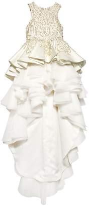 Handmade Embellished Satin Dress