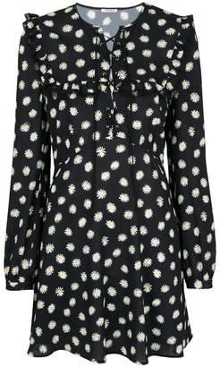 Miu Miu daisy-print lace-up mini dress