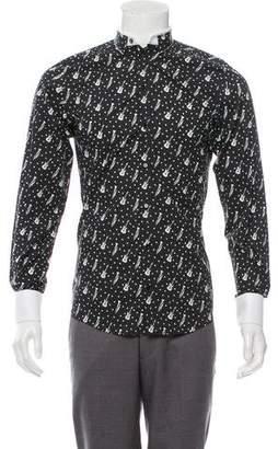 Dolce & Gabbana Guitar Print Button-Up Shirt