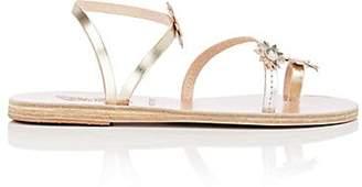 Ancient Greek Sandals Women's Sheila Leather Sandals - Silver