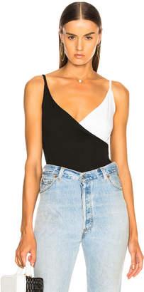 Enza Costa Strappy Overlap Bodysuit