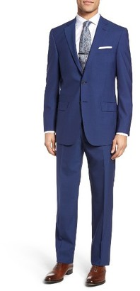 Men's Hart Schaffner Marx Classic Fit Solid Wool Suit $695 thestylecure.com