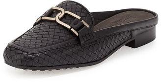 Sesto Meucci Margret Woven Leather Mule, Black $265 thestylecure.com