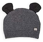 The Bonnie Mob Infants' Eared Cotton-Cashmere Beanie-Gray