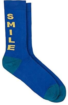 """Paul Smith Men's """"Smile"""" Cotton-Blend Mid-Calf Socks"""