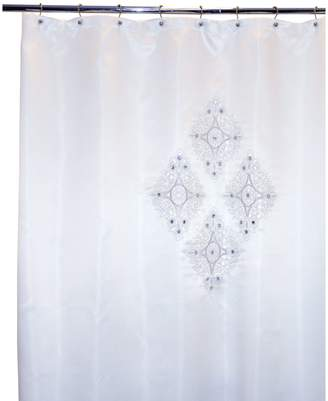 Famous Home Fashions Jewel White Shower Curtain
