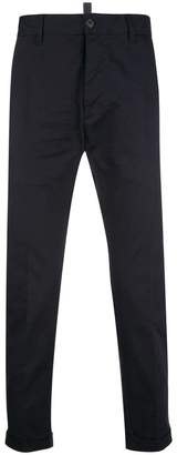 DSQUARED2 chino trousers with turn up cuffs
