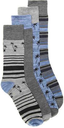 Lucky Brand Palm Crew Socks - 4 Pack - Men's
