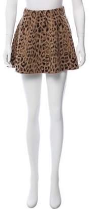 Skaist-Taylor Animal Print Wool Skirt Brown Skaist-Taylor Animal Print Wool Skirt