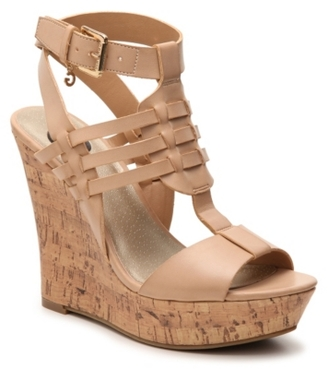 G by GUESS Donnte Wedge Sandal $69 thestylecure.com