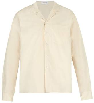 BEIGE Commas - Long Sleeve Camp Collar Shirt - Mens
