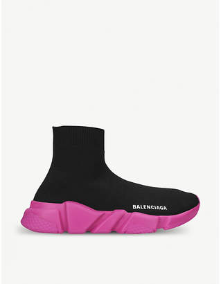 Balenciaga Speed stretch-knit mid-top trainers