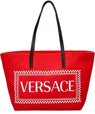 Versace 90S Vintage Logo Canvas Tote
