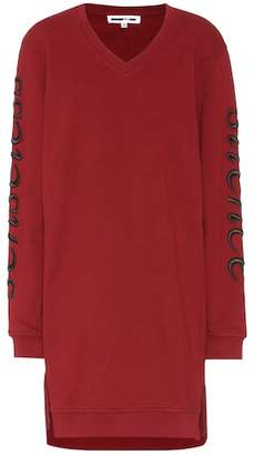 McQ Embroidered cotton sweater dress