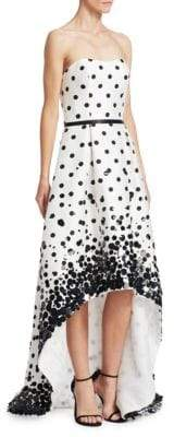 Theia Sequin Polka Dot Gown