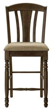 Gracie Oaks Citronelle Slat Back 19 Bar Stool (Set of 2)