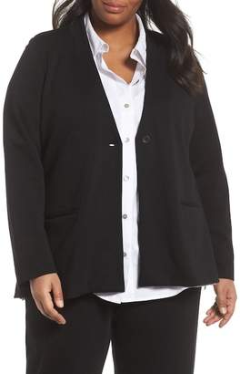 Eileen Fisher Stand Collar Blazer (Plus Size)