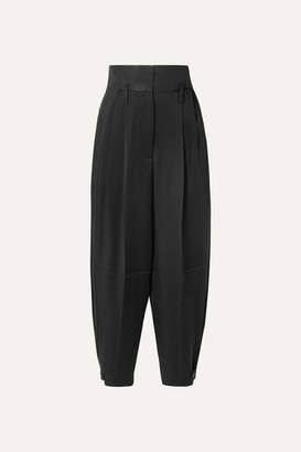 Givenchy Gabardine-paneled Satin-crepe Tapered Pants - Black