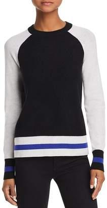 Aqua Color-Block Raglan Cashmere Sweater - 100% Exclusive