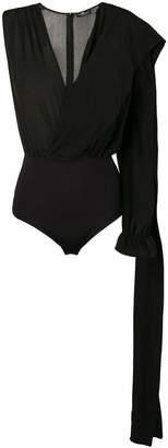 Elisabetta Franchi asymmetric bodysuit