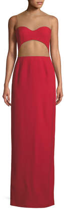 Michael Kors Sheer-Back Cutout Column Gown