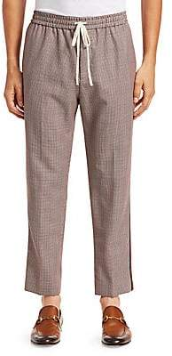 Gucci Men's Houndstooth Wool Mohair Pants