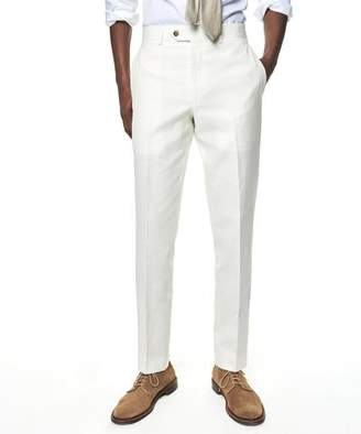 Todd Snyder White Label Cotton Linen Trouser in White