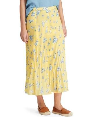 Chaps Women's Floral Georgette Midi Skirt