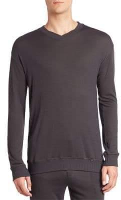 Hanro Lorenzo Solid Ribbed Pullover