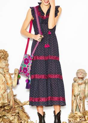 Figue Designs By Alina Lila dress in aztec dot midnight navy (S)