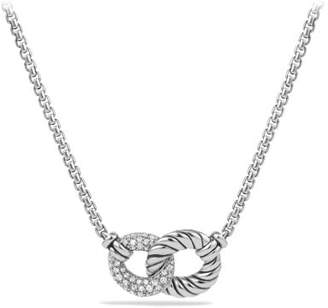 David Yurman Belmont® Double Curb Link Necklace With Diamonds