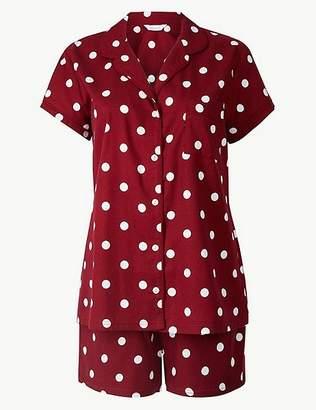 Marks and Spencer Spot Print Short Sleeve Pyjama Set