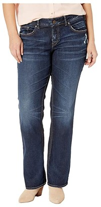 Silver Jeans Co. Plus Size Elyse Mid-Rise Eased Curvy Slim Boot Jeans in Indigo W03601SSX415