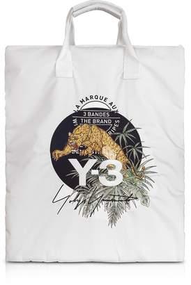 Y-3 Y 3 Core White Signature Print Tote Bag