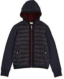 Moncler Kids' Down-Quilted Cotton Terry Jacket-Navy