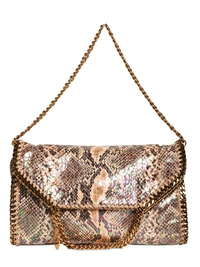 Stella McCartney Three Chain Faux Python Falabella Bag