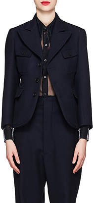 Maison Margiela Women's Wool Three-Button Blazer - Navy