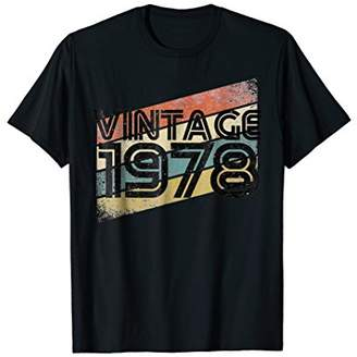 Vintage 1978 - Retro 40th T Shirt Gift 40 Yrs Years Old